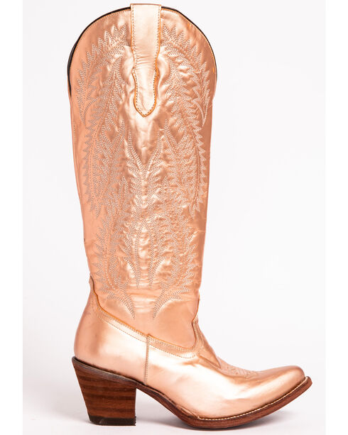Corral Women's Gold Embroidery Tall Top Cowgirl Boots - Pointed Toe , , hi-res