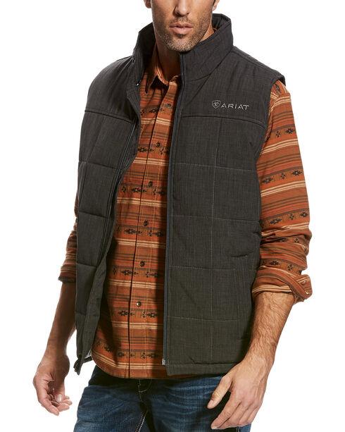 Ariat Men's Crius Insulated Vest, Charcoal, hi-res