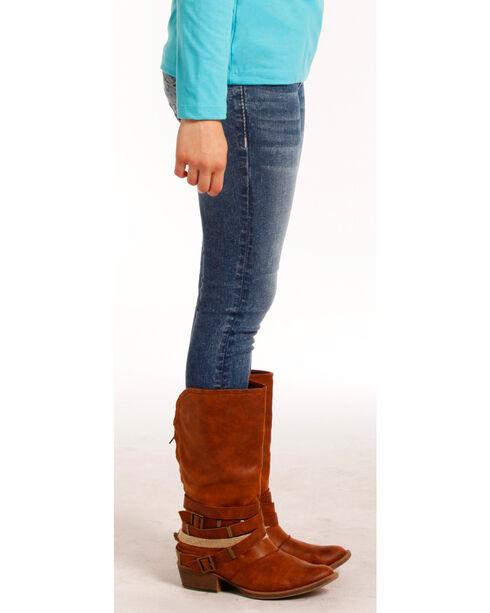 Rock & Roll Cowgirl Girls' (7-14) Indigo Extra Stretch Jeans - Skinny , Indigo, hi-res