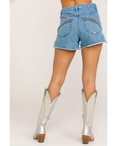 Show Me Your Mumu Women's Arizona Delta Rainbow High Waisted Shorts, Blue, hi-res
