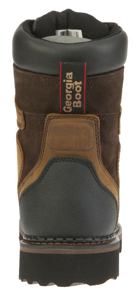 "Georgia Brookville Waterproof 8"" Work Boots, Dark Brown, hi-res"