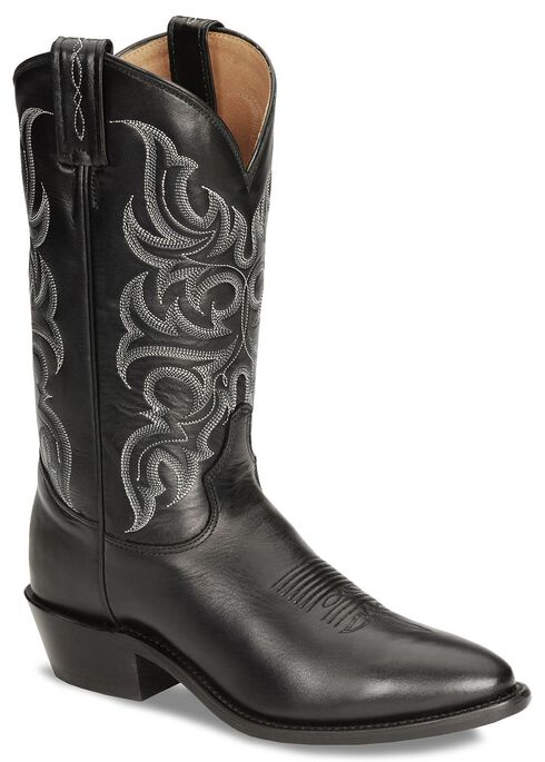 Tony Lama Regal Americana Boots - Medium Toe, Black, hi-res