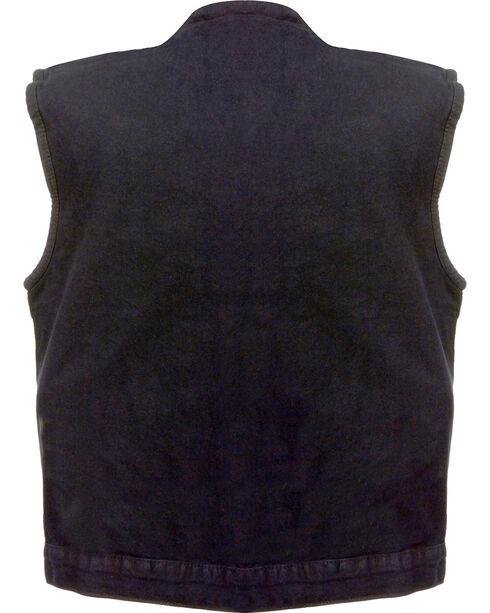 Milwaukee Leather Men's Concealed Snap Denim Club Vest - 4X, , hi-res