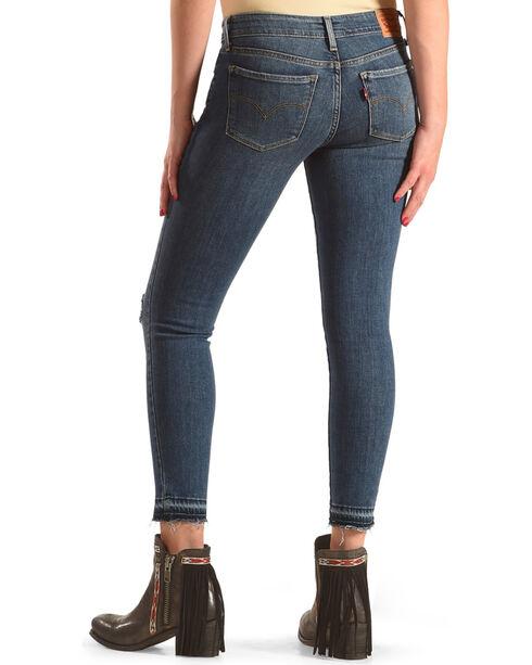 Levi's Women's Indigo 711 Off-The-Cuff Jeans - Ankle Skinny , Indigo, hi-res