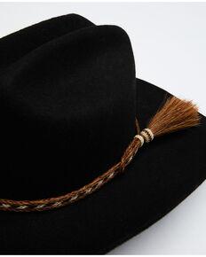 Austin Accent Horsehair Tassel Hat Band, Black, hi-res