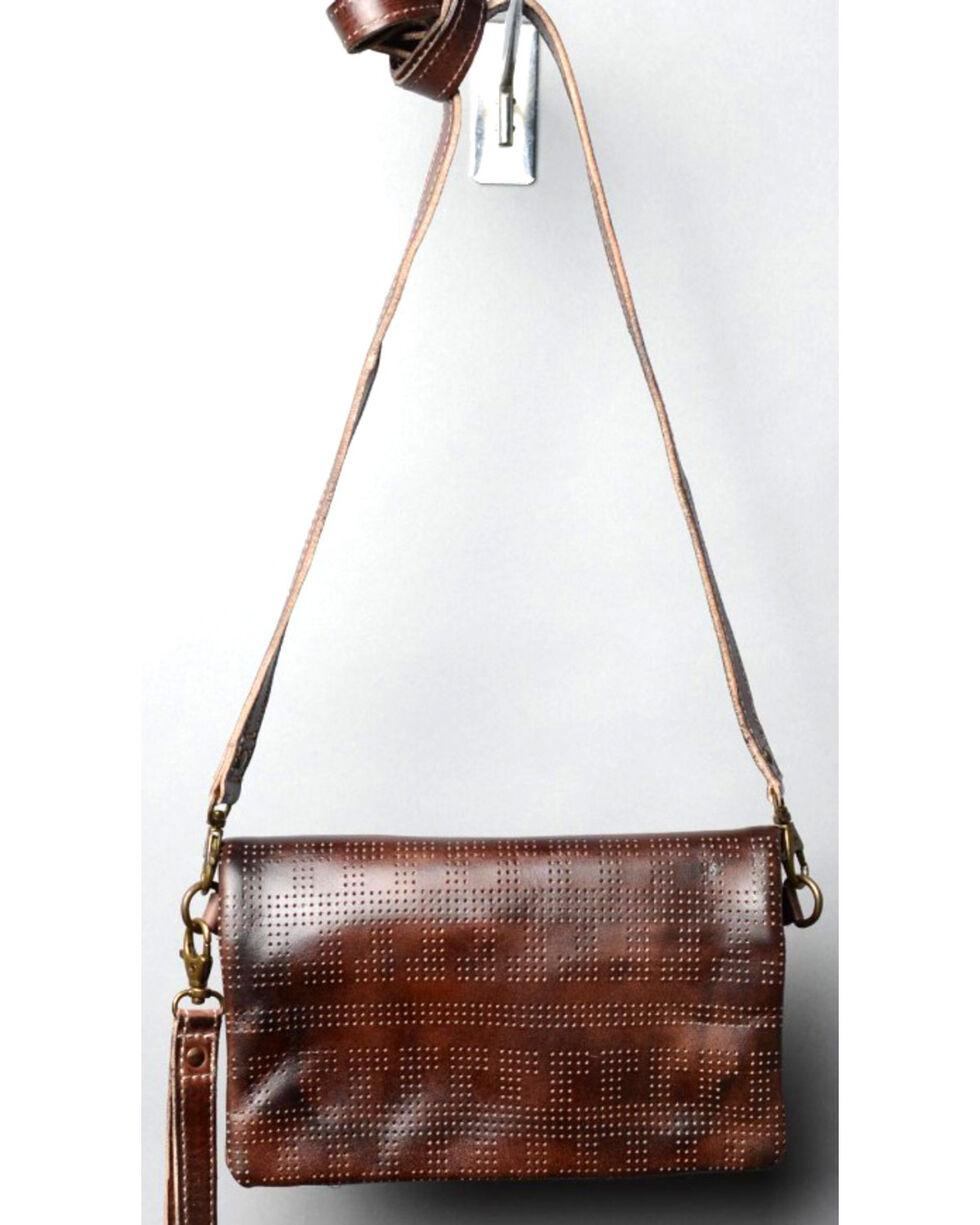 Bed Stu Women's Bayshore Teak Rustic Wallet/Clutch/Crossbody Bag, Dark Brown, hi-res
