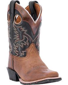 Dan Post Boys' Rascal Western Boots - Square Toe, Brown, hi-res
