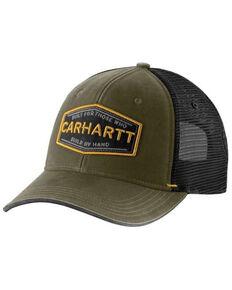 Carhartt Men's Black Silvermine Trucker Cap, Green, hi-res