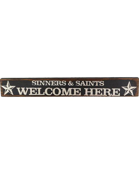 Boulder Innovations Sinners & Saints Wood Sign, No Color, hi-res
