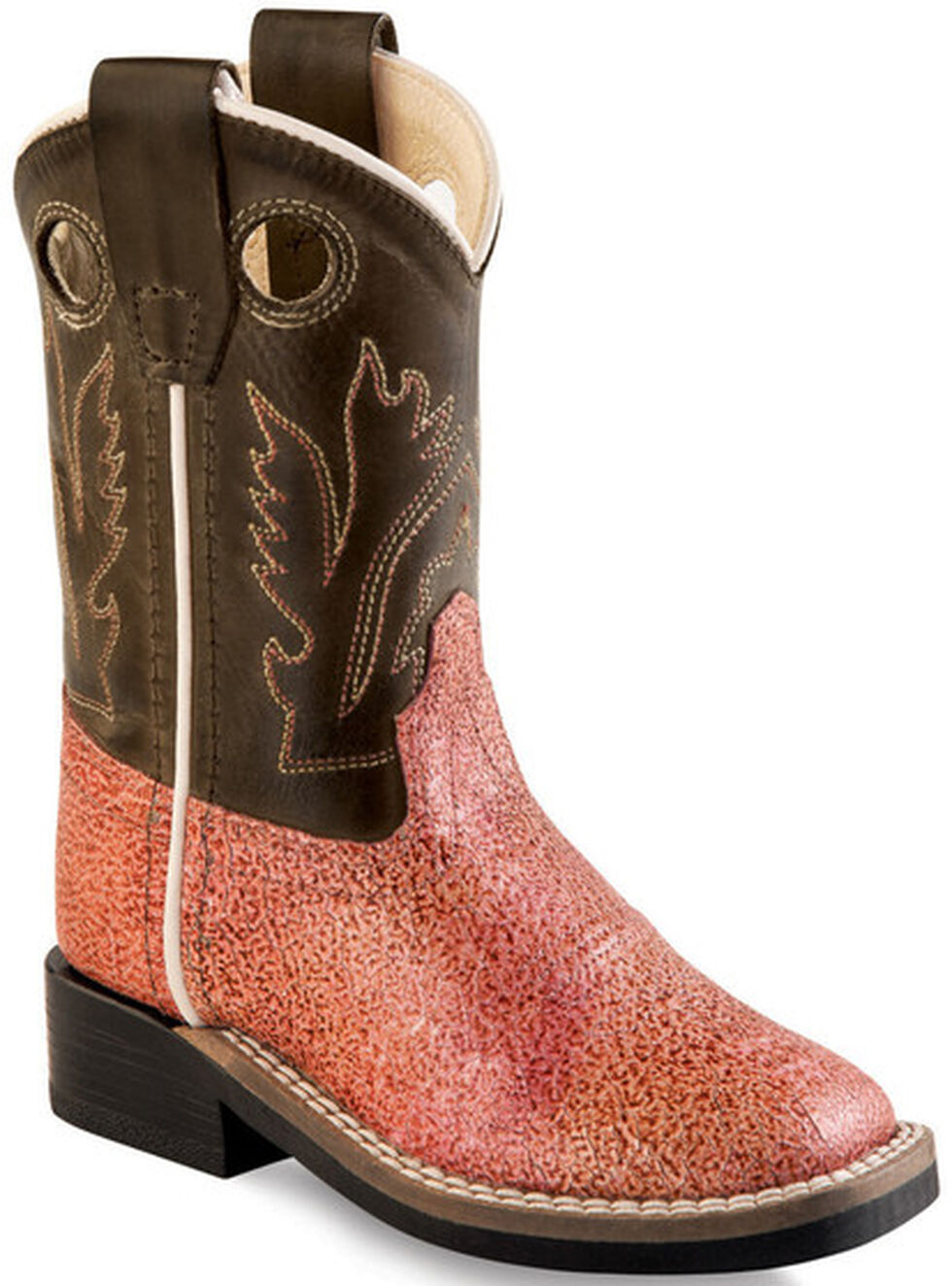 Old West Toddler Girls' Multi-Color Western Boots - Square Toe , Multi, hi-res