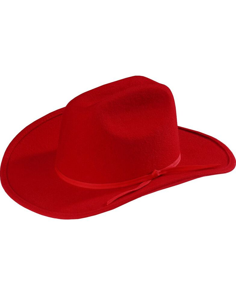 Bailey Kids Eddy Bros Ranger Wool Felt Western Hat , Red, hi-res