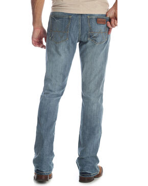 Wrangler Men's Blue Retro Slim Fit Stretch Boot Cut Jeans - Long , Blue, hi-res