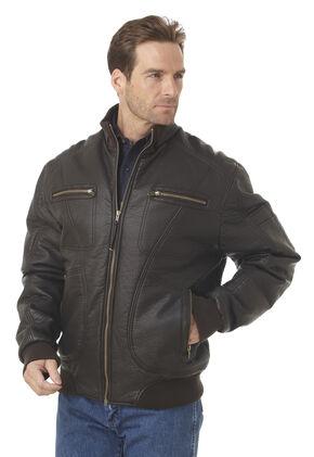 Cripple Creek Zip-front PVC Polyfill Jacket, Fudge, hi-res