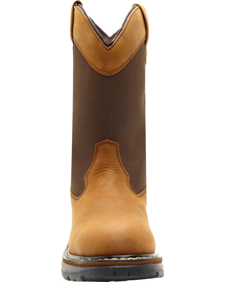 Rocky Ride Insulated Waterproof Wellington Work Boots, Brown, hi-res