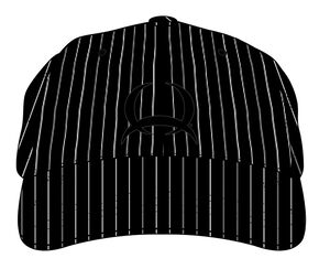 Cinch Black and White Pinstripe Cap, Black, hi-res
