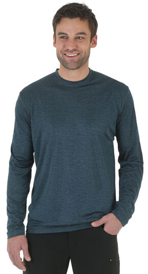 Wrangler Rugged Wear All-Terrain Long Sleeve Performance Tee, Steel Blue, hi-res