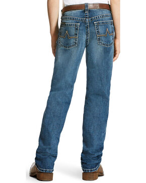 Ariat Boys' B5 Steiner Low Rise Slim Fit Jeans - Straight Leg, Indigo, hi-res