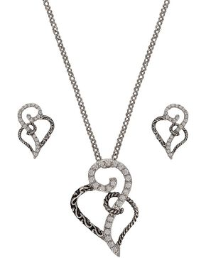 Montana Silversmiths Woven Hearts Jewelry Set, Multi, hi-res