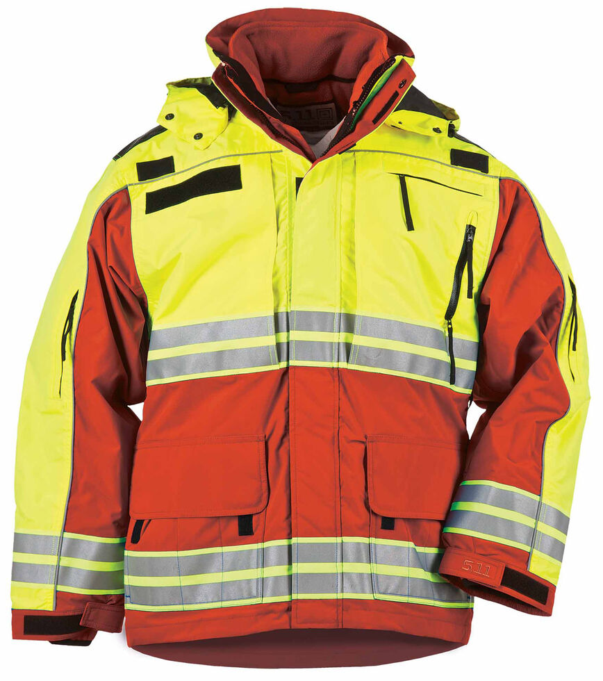 5.11 Tactical Men's Responder High-Visibility Parka - 3XL-4XL, Red, hi-res