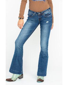 Panhandle Women's Basic Back Pocket Trousers, Blue, hi-res