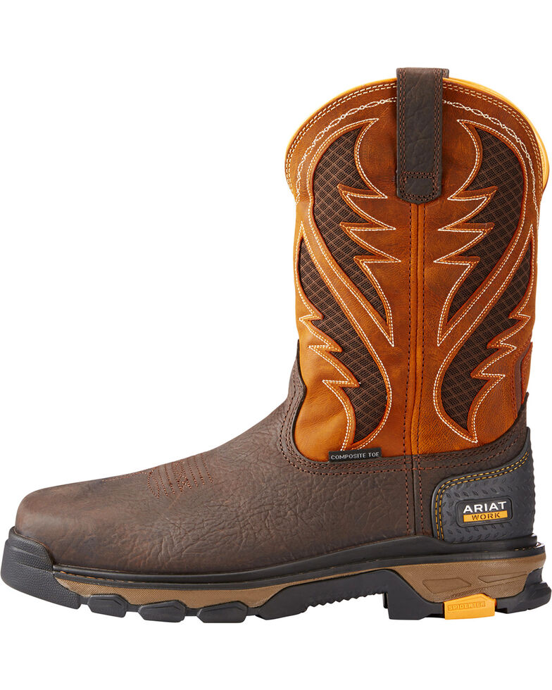 f7ed77fbf69 Ariat Men's Orange Intrepid VentTEK Work Boots - Composite Toe