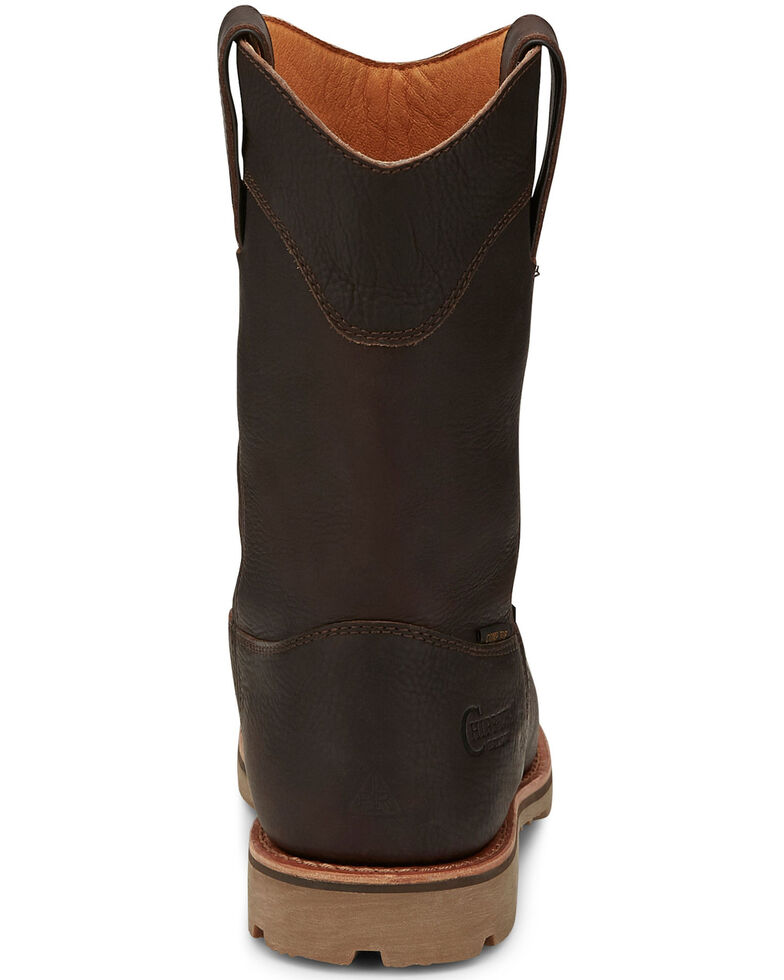 Chippewa Men's Serious Plus Waterproof Western Work Boots - Composite Toe, Brown, hi-res