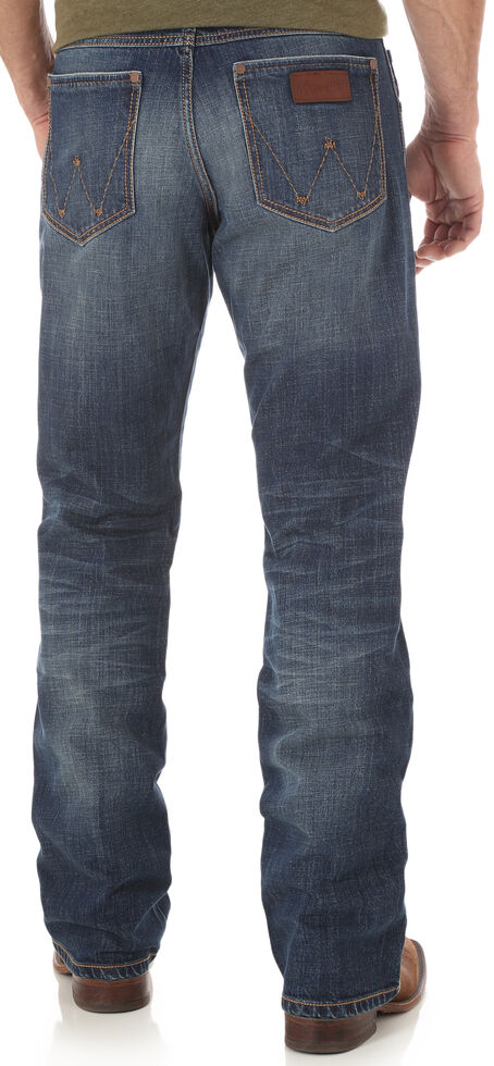 1c5b18699be Zoomed Image Wrangler Retro Men's Relaxed Fit Boot Cut Jeans, Indigo, hi-res