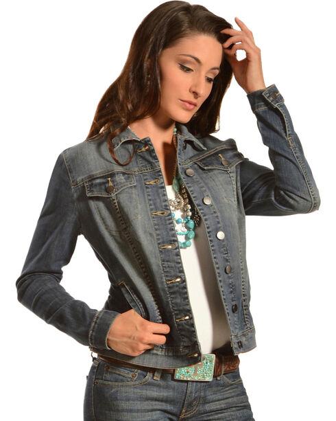 Kut from the Kloth Women's Cropped Denim Jacket, Denim, hi-res