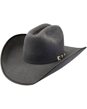Justin Bent Rail Men's Granite 7X Hooked 2 Cowboy Hat, Grey, hi-res