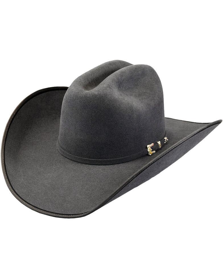 15106aeeb7512 ... Gray Felt Cowboy Hats  Justin Bent Rail Men s Granite 7X Hooked 2 Felt Cowboy  Hat