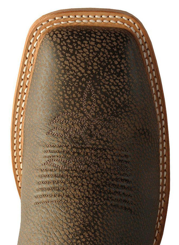 Justin Bent Rail Cowboy Boots - Square Toe, Chocolate, hi-res