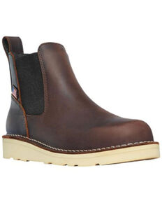 Danner Women's Bull Run Chelsea Work Boots - Soft Toe, Brown, hi-res