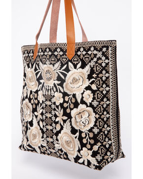 Johnny Was Women's Taupe Lane Everyday Tote, Black, hi-res