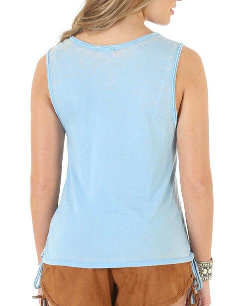 Wrangler Women's Light Blue Steer Head Tank Top , Light/pastel Blue, hi-res