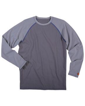 Wrangler Men's Flame Resistant Knit Baseball Tee - Big, Grey, hi-res
