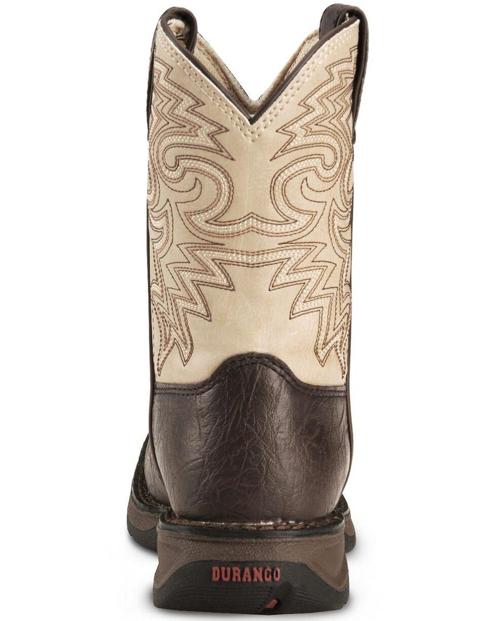 Durango Boys' Brown Lil' Rebel Cowboy Boots - Square Toe, Brown, hi-res
