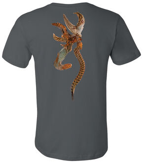 Browning Men's Pheasant Buckmark Asphalt Short Sleeve Tee, Grey, hi-res