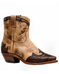 Boulet Women's Short Boots - Snip Toe, Taupe, hi-res