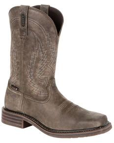 Rocky Men's Riverbend Waterproof Western Boots - Square Toe, Grey, hi-res