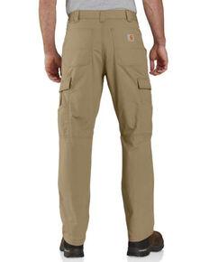 Carhattt Men's Dark Khaki M-Force Relaxed Ripstop Cargo Work Pants , Beige/khaki, hi-res