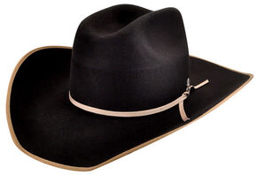 Bailey Men's Emmett 3X Wool Felt Cowboy Hat, Black, hi-res