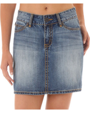 Wrangler Women's Blue Mae Denim Skirt , Blue, hi-res
