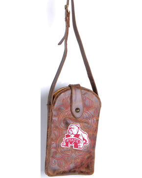 Gameday Boots Mississippi State University Crossbody Bag, Brass, hi-res