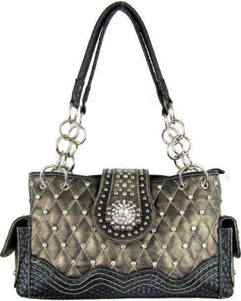Savana Women's Bronze Concealed Carry Quilted Handbag, Bronze, hi-res