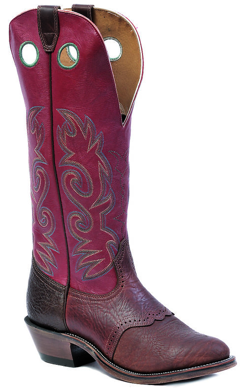 "Boulet Shoulder Old Town Deerlite Red Buckaroo 16"" Cowboy Boots - Round Toe, , hi-res"