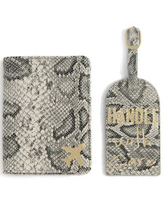 Shiraleah Snakeskin Passport Jacket & Luggage Tag Two-in-One Set, Multi, hi-res
