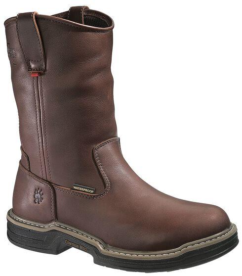 Wolverine Darco Wellington Work Boots - Steel Toe, Brown, hi-res
