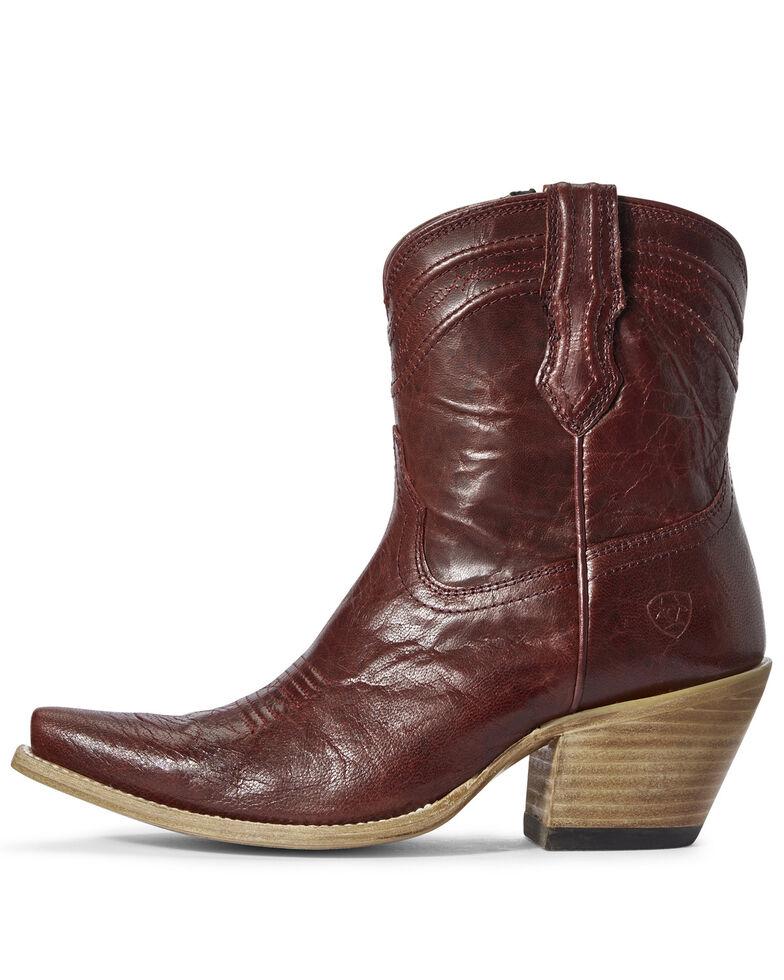 Ariat Women's Legacy Sangria Fashion Booties - Snip Toe, Red, hi-res