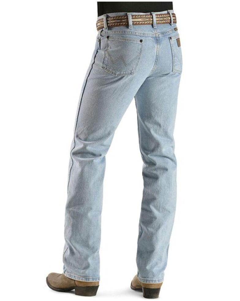Wrangler Men's 936 Cowboy Cut Slim Fit Prewashed Jeans, Bleach Indigo, hi-res