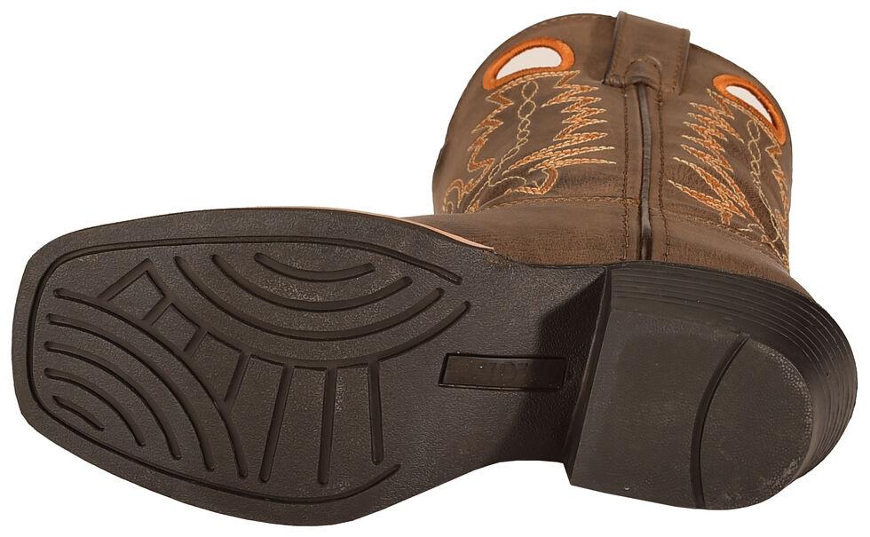 Swift Creek Boys' Brown Cowboy Boots - Square Toe, Brown, hi-res